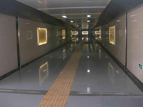 地铁通道 高光大理石冰火板